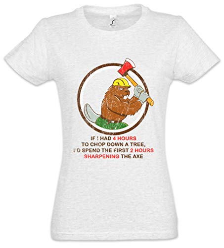 - The Mermaid Conviction 4 Hours to Chop Down A Tree Women T-Shirt Sizes XS - 2XL Grey