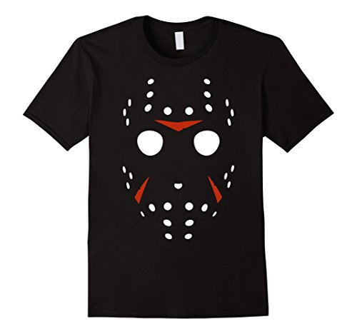 Mens Hockey Mask Scary Halloween Costume Party T-Shirt Small Black
