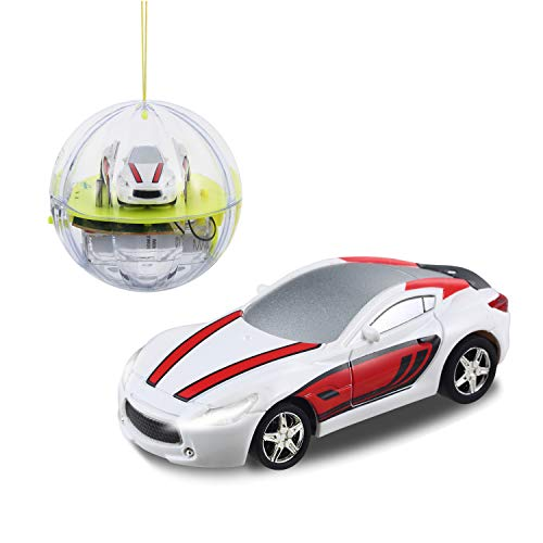 haomsj Remote Control Car 2.4G Mini RC Cars in Crystal Ball Pocket Racers Cars RC Toys for Kids Boys and Girls with LED Lights 1/58 Scale