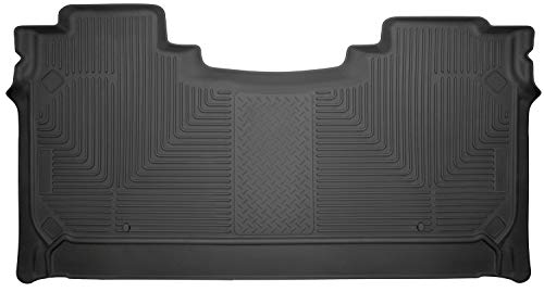 Husky Liners Fits 2019 Dodge Ram 1500 Crew Cab with Factory Storage Box Weatherbeater 2nd Seat Floor Mat