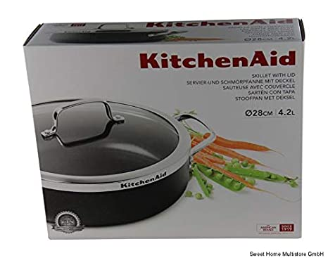 Kitchenaid para Servir de y sartén Honda con Tapa (Diámetro 28 Cm Armario 139,99 Euros: Amazon.es: Hogar