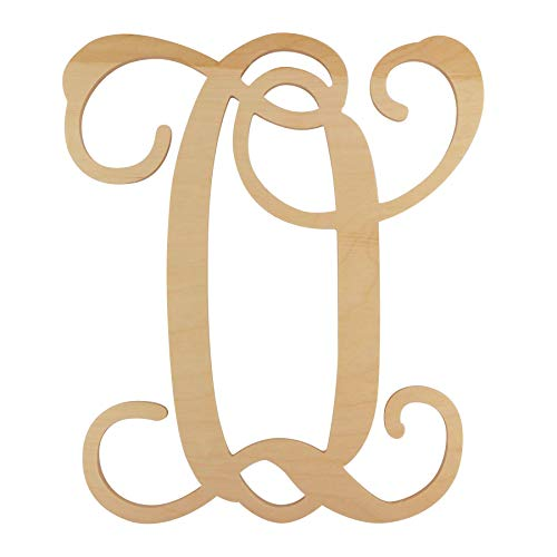 48 Hour Monogram Choose Your Letter and Size! - Single Vine Unfinished Letter (O, 12)