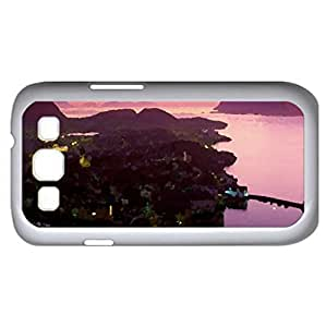 city (Houses Series) Watercolor style - Case Cover For Samsung Galaxy S3 i9300 (White)