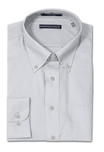 Damon Big and Tall Easy Care Ultra Pinpoint Dress Shirt - Medium Grey (20