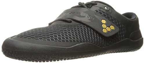 Vivobarefoot Motus Men's Fitness Cross Training Court Shoe Trainer, Black/Gold, 45 D EU (12 US)