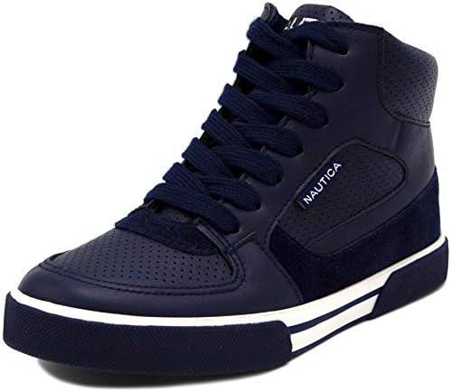 Nautica Kids Horizon Sneaker-Lace Up Fashion Shoe- Boot Like High Top (Little Kid/Big Kid)