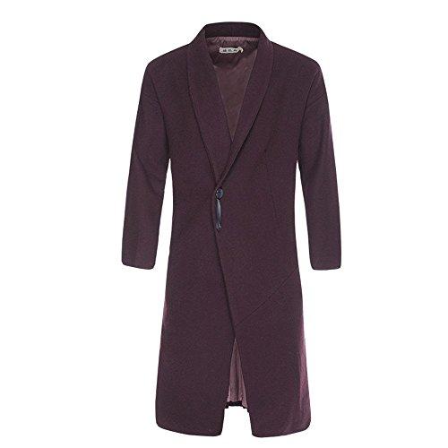 invierno paño China de el Slim de de otoño El viento y XL macho largo invierno abrigo abrigo Violeta chaqueta lana 0xOB1wqO
