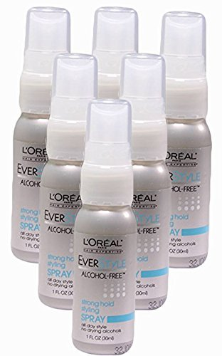 - L'oreal Paris Everstyle Strong Hold Styling Spray, Alcohol-free, 1 Ounce (Pack of 6)