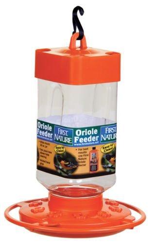 First Nature 3088 32 Ounce Orange Oriole Nectar Feeder