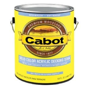 CABOT STAIN 41806 NEUTRAL BASE SOLID COLOR DECKING STAIN W/ SURFACE PROTECTOR SIZE:QUART. by Cabot