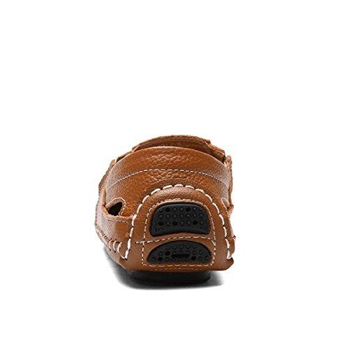 Trekking LXXAMens Secado Verano Sandalias Real Brown De Zapatillas Playa Zapatos Atletismo Rápido De De Cuero rvwYrq