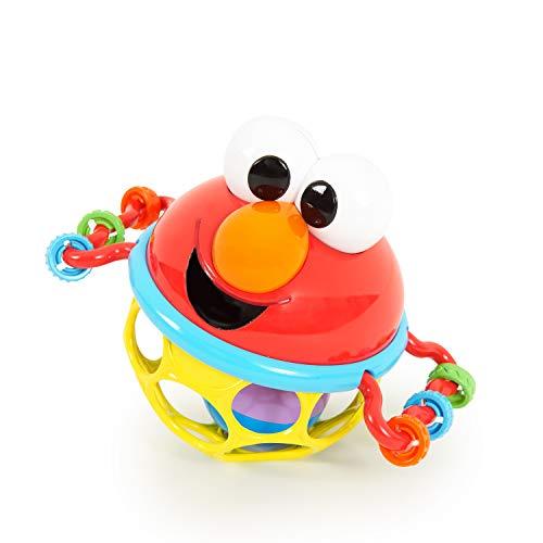 Sesamstraat Oball rammelaar Elmo – flexibel en gemakkelijk vast te houden ontwerp, voor kinderen van alle leeftijden