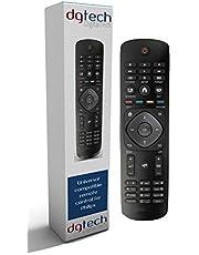 DigitalTech® Universal fjärrkontroll för Philips TV-apparater – passar över 250 Philips fjärrkontroller