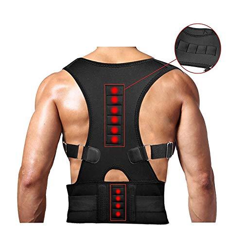 Back Brace Posture Corrector for Men Women Fully Adjustable Provides Lumbar Support Lower and Upper Pain Black Magnetic Relief Kyphosis Scoliosis Humpback Correction Belts (Best Exercises For Spondylolisthesis)