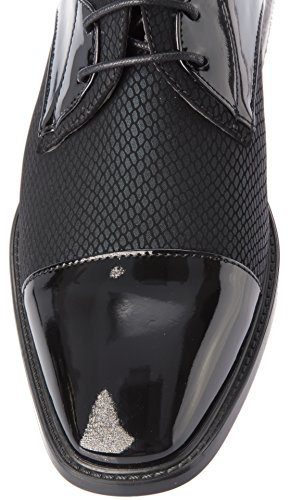 Alberto Fellini Hombre Oxfords-Zapatos Cap Toe Charol Moda O Formal Business Dress Negro