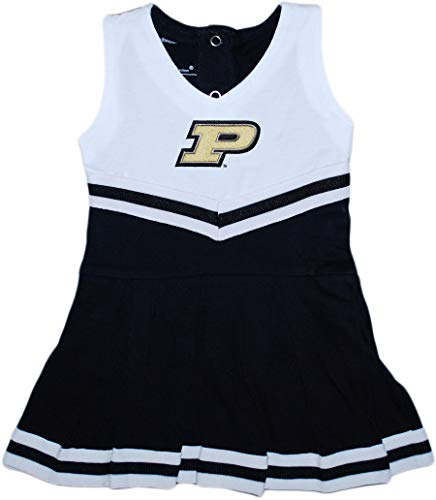 Creative Knitwear Purdue University Boilermakers Baby and Toddler Cheerleader Bodysuit Dress Black