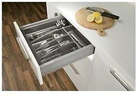 Cutlery Tray for 400mm Cabinet Matt Anthracite - 314mm wide x 423mm deep: Amazon.es: Bricolaje y herramientas