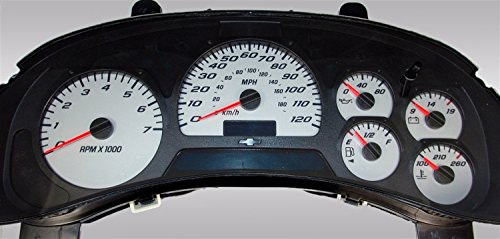 US Speedo Gauge Face only TRL052 - Daytona Edition Gauge FacesGauge Face Only- Silver / Blue Night - 120 MPH - for: Chevy Trailblazer, Envoy
