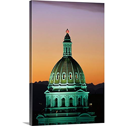 GREATBIGCANVAS Gallery-Wrapped Canvas Entitled Colorado State Capitol Building Denver CO by 12