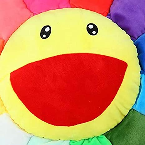 Amazon.com: PHOPHO Stuffed & Plush Plants - Colorful Flowers Creative Plush mats Meditation Cushion Smileys Emoticons Floor Cushions cojin gato 1 PCs: Toys ...