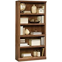 Bowery Hill 5 Shelf Bookcase in Oiled Oak