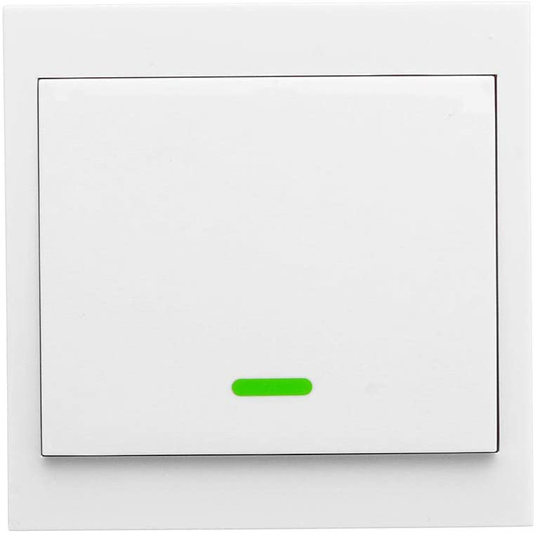 OWSOO Home Intelligent Switch Smart Switch Wireless Remote Transmitter Sticky RF Intelligent Switch for Home Living Room Bedroom 433MHZ 86 Wall Panel Switches, 1CH