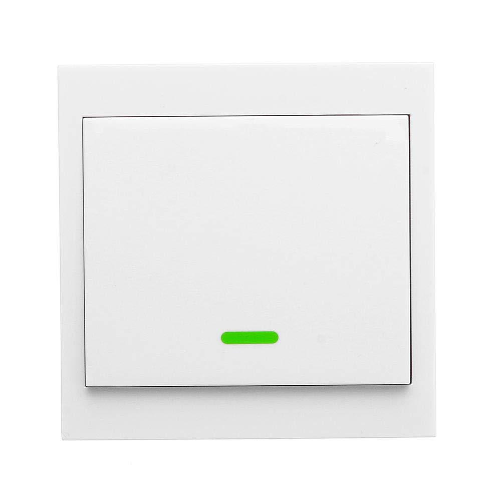 Leepesx Transmisor Remoto inal/ámbrico Sticky RF Interruptor Inteligente para Sala de Estar en el hogar Dormitorio 433MHZ 86 Interruptores de Panel de Pared