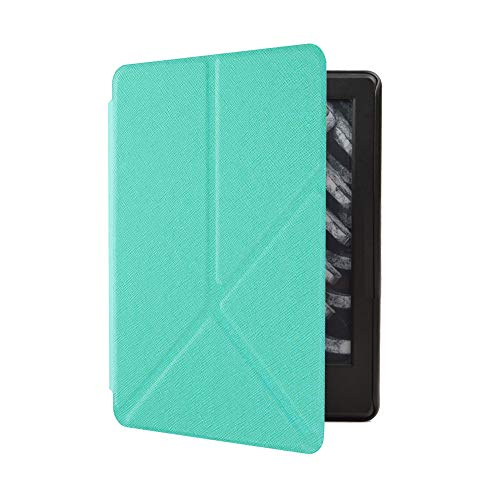 (Cywulin Case for All-New Kindle Paperwhite 10th Generation 2018 Lightweight PU Leather Folio Cover Slim Folding Shell Stand Smart Auto Wake Sleep for Amazon Kindle Paperwhite E-Reader (Mint Green))