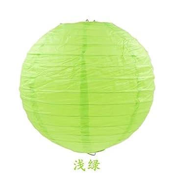 geriffelt rund 25 cm 5 Papierlampenschirm Mehrfarbige // Bambus-Stil