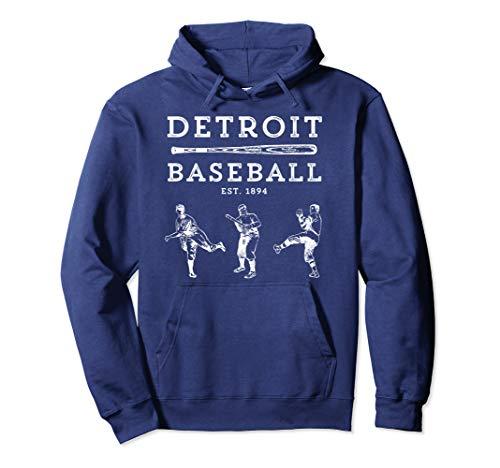Classic Detroit Baseball Fan Retro Hoodie