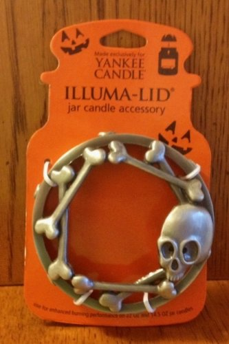 Skull Illuma-Lid Halloween Illuma-Lid Jar Candle Topper - Yankee Candle