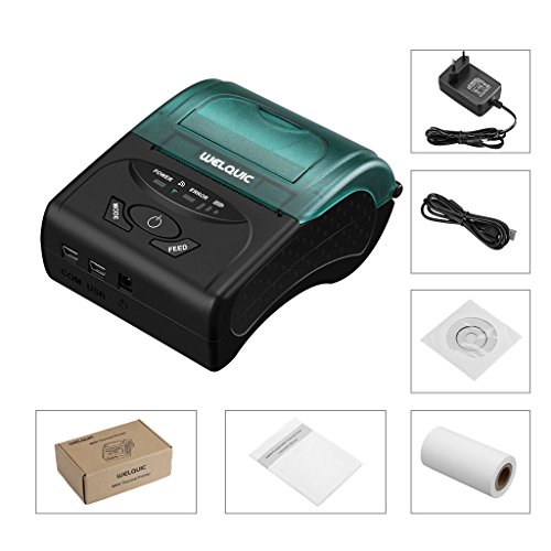 WELQUIC Portable Mini Wireless 58mm Bluetooth High Speed Direct Thermal Printer, Compatible with Android & IOS & Windows & Linux systems and ESC / POS Print Commands Set by WELQUIC (Image #6)