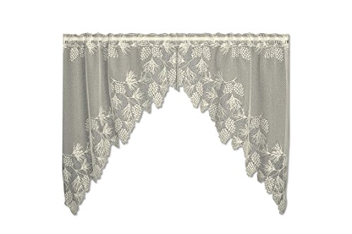 "Heritage Lace ECRU WOODLAND Window Swag Pair 68""W x 40""L"