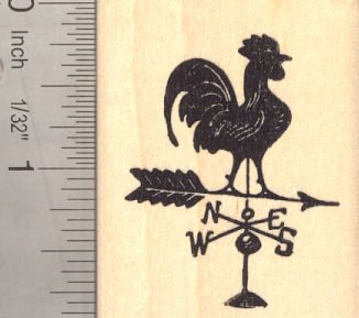 Amazon Rooster Weather Vane Rubber Stamp In Silhouette Rustic