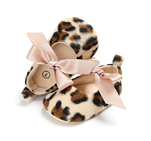 New Leopard Baby Girls Princess Shoes Lace Bow Toddler Soft Soled Non-Slip Prewalker Crib Newborn Baby Mary Jane Footwear (2)