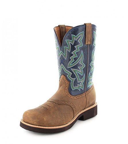 Twisted Twisted Twisted X western western western Multicolore 1716 uomo Saddle Stivali Blue Boots MBB0002 7T7xBr