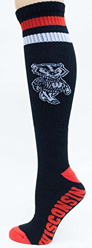 - Donegal Bay NCAA Wisconsin Badgers Tube Socks, One Size, Black