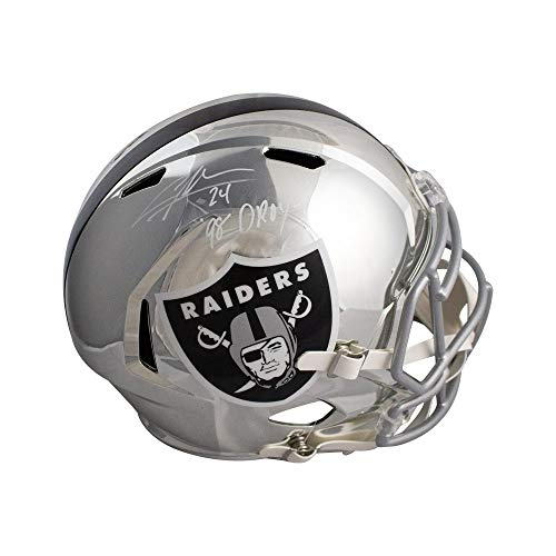 Charles Woodson 98 DPOY Autographed Raiders Chrome Full-Size Football Helmet BAS