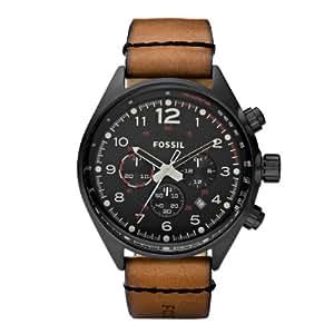 Fossil CH2695 - Reloj cronógrafo de cuarzo para hombre con correa de piel, color marrón