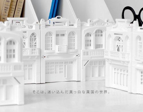 異国の街が卓上で楽しめる。この真っ白な建物は実は…