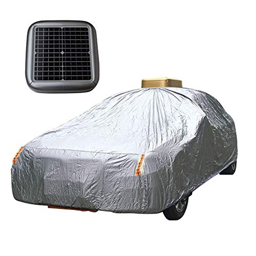 "Car Cover Waterproof All Weather for Automobiles, Solar Automatic Breathable Outdoor Indoor Full Cover fit Hatchback, Sedan, SUV,Silver,2L PLUS(Up to 177"")"