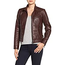 Leather Hubb Women's New Zealand Lambskin Brown short Jacket/ Slim fit Blazer