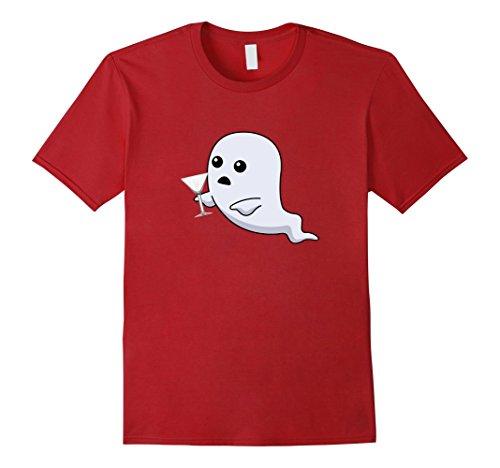 mens-ghost-drinking-martini-shirt-medium-cranberry