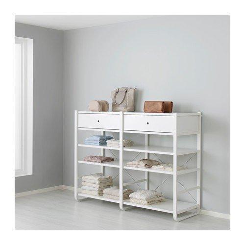 51x126cm IKEA ELVARLI Seitenteil für Aufbewahrungssystem; in weiß;