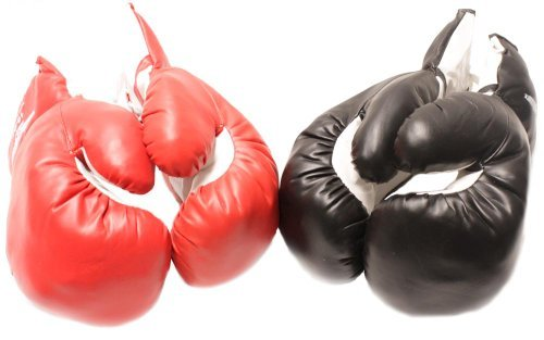 2 Pair Red Corner Black Corner 12oz boxing Gloves Set