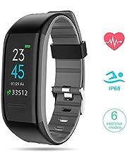 GOKOO Smartwatch Fitness Tracker Uomo, Orologio Fitness Activity Tracker Schermo a Colori Braccialetto Impermeabile IP68 Cardiofrequenzimetro Monitor del Sonno per Uomo Donna per Android e iOS