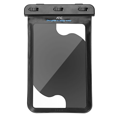 ATiC strap transparent waterproof case - iPad Mini Retina, Mini 3, Mini 4, Google Nexus 7 (FHD), ASUS Nexus 7, Samsung Galaxy Tab 2/3/4/5 7.0 8.0, Tab S 8.4, Tab Pro 8.4, Sony Z3, LG G Pad 7.0 / 8.0 / 8.3, Tab 3 Lite 7, Note 8, Dell Venue 7.0 / 8.0 / 8.0 Pro / Venue 8 7840, Verizon, Nvidia Shiled, Lenovo Tab 2 A7-10 / A7-30, Yoga 2 8, Tab S8-50, Zenpad C 7.0 Z170C, Zenpad S 8.0 / W W1-810, MeMO Pad HD7, ASUS ME173X / other applications strap and arm band-type dual-use waterproof case to 8.4 inches or less of the tablet. Waterproof protection grade: IPx8. BLACK (Cases Venue Dell 7)