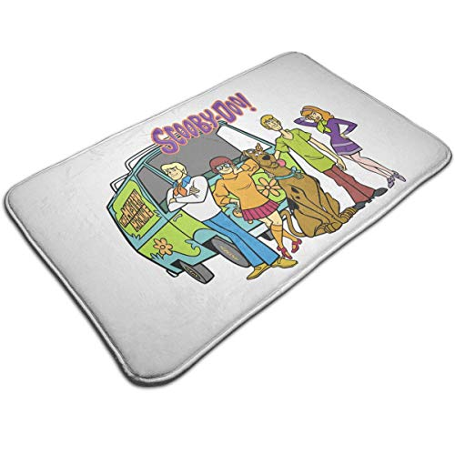 (Scooby-Doo Bath Mat Door Mat Rug with Non Slip Backing Indoor Doormat for Kitchen,Pet)