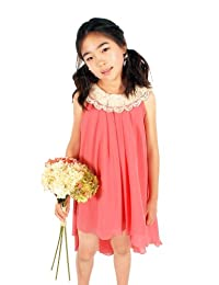 My Best Kids Girls Crystal Poly Chiffy Hi-Low Dress