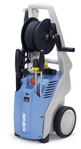 KranzleUSA K2020T Cold Water Electric Industrial Pressure Washer with GFI and 50 Wire Braided Hose on Hose Reel, 2000 PSI, 1.9 GPM, 110V, 20A